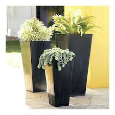 indoor plant pots tall plant pots crate barrel set of 3 zinc tall square planters tall indoor plant pots
