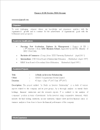 Business Resume Objective Hr Fresher Resume Objective Templates At