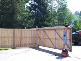 Wooden Fence Door Front Yard Fence Ideas Driveway Wood Fence Gate