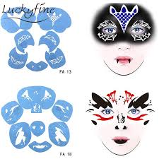reusable blooder face paint stencil soft tattoo template diy design drawing face painting stencils