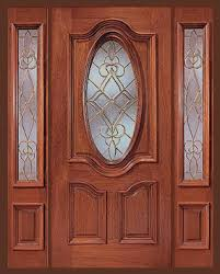 cheap front doorCheap Entry Doors with Side Lights  Entry Prehung Oval Glass