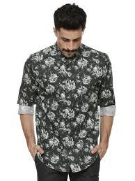 Buy Blackberrys Urban Black Floral Printed Shirt For Men