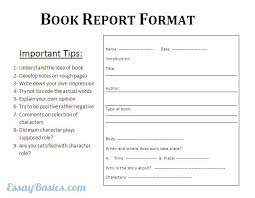 college book report format co college book report format