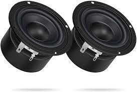 Amazon.com: 8Ohm HiFi Subwoofer, DROK 2PCS 25W Woofer Speaker 3 Inch Round  Stereo Loudspeaker Computer Compact Speakers, DIY Home Car Audio HiFi  Speakers Bass 90Hz-5KHz : Electronics