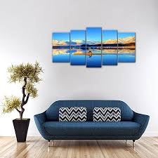 2018 canvas prints canvas paintings tibet high mountain boating painting wall art picture with wooden frame for home decoration from amesi paintings  on large tibetan wall art with 2018 canvas prints canvas paintings tibet high mountain boating