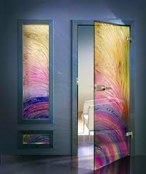 contemporary interior doors made from glass modern aesthetic glass doors
