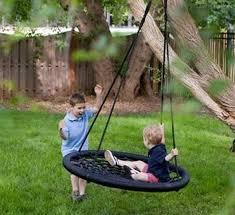 backyard swing ideas diy bed