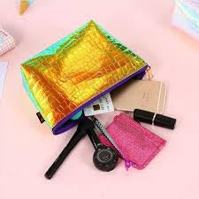 <b>2019 New Crocodile Pattern</b> Cosmetic Makeup Bag Laser Colorful ...