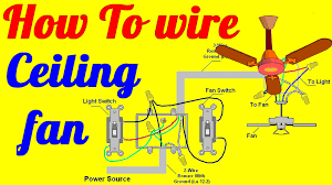 how to wire ceiling fan with light switch youtube Ceiling Fan Internal Wiring Schematic Ceiling Fan Wiring Diagram 2 Switches #11