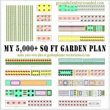 garden layout tool. Vegetable Garden Layout 5000 Square Foot Plan Tool F