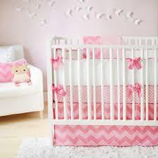 Baby Nursery Decor, Zig Zag Baby Girl Nursery Set Best Motive Pink Color  Sugar White