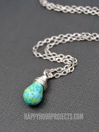 how to make a wire wrapped bead pendant