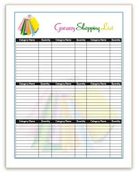 Template For Shopping List 7 Shopping List Templates Office Templates Online