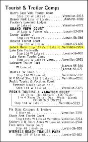 Telephone Listing Bradys Bunch Of Lorain County Nostalgia Johns Motel Cabins Part 1