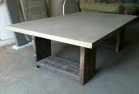 Concrete Table Base Ideas Pillar Lamp Block. Concrete Dining Table Base  Pedestal Glass With. Diy Concrete Coffee Table ...