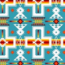Southwest Pattern Enchanting Cotton Fabric Ethnic Fabric Tucson Southwest Cream Red Orange