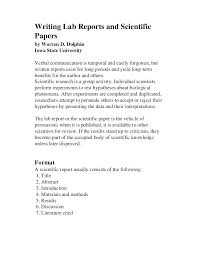 Science Report Format Science Lab Report Template High School Lab Report Format