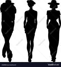 Silhouette Of Fashion Girls Top Models Vector Hoodamathrun