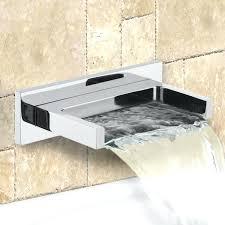 tub spout chrome wall mounted waterfall bathtub faucet