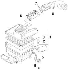 parts com® volkswagen cabrio air intake oem parts diagrams 2002 volkswagen cabrio gl l4 2 0 liter gas air intake