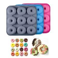 9 cavity diy silicone donut mold non toxic fda silicone donut pan