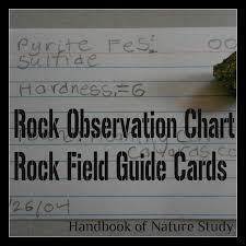 Outdoor Hour Challenge Rock Observation Chart