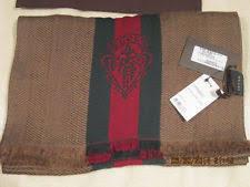 gucci headband mens. gucci men\u0027s luxury beige/dk-gn signature web detail wool silk nck dres scarf gucci headband mens