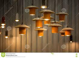 Verfraaide Hangende Lampen Stock Afbeelding Afbeelding Bestaande