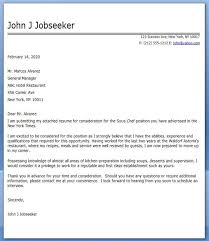Cover Letter Sous Chef Cover Letter Sous Chef Cover Letter Example Chef Resume