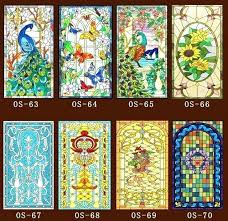stained glass stained glass stickers for doors custom no glue static scrubs translucent church windows