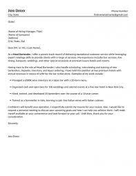 Head Bartender Cover Letter Sarahepps Com