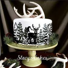 68258369 Stacys Cakes Hand Painted Deer Outdoor Hunting Silhouette