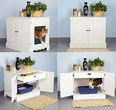 Image Cat Washroom Amazoncom Pet Studio Litter Box Cabinet For Pets Newport White Pet Supplies Amazoncom Amazoncom Pet Studio Litter Box Cabinet For Pets Newport White