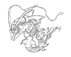 Fresh Pokemon Coloring Pages Mega Rayquaza Free Coloring Book