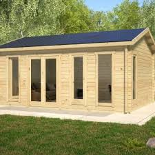garden office shed. Barbados A \u2013 5.9m X 4.7m 44mm Log Garden Office Shed R
