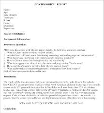 Format Template Template For Question And Answer Format Reports Note Report Writers