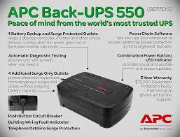 amazon com apc back ups 550va ups battery backup surge amazon com apc back ups 550va ups battery backup surge protector be550g home audio theater