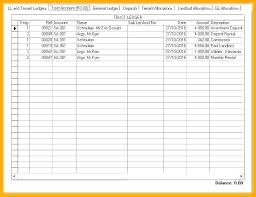 bookkeeping ledger template rental ledger template derbytelegraph co
