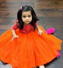 Indian Baby Girl Lehenga Designs Pin By Manjula Reddy On Kids Fashion Cute Girl Dresses