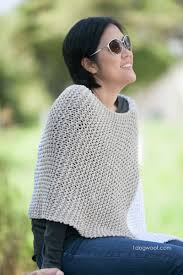 Knit Poncho Pattern Beauteous Easy Knit Catalunya Colorblock Poncho One Dog Woof