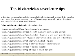 Resume Cover Letter Examples Electrician Lezincdc Com