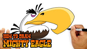How to Draw Mighty Eagle | Angry Birds - Video Game Characters ...