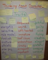 Character Traits Anchor Chart Teaching Character Traits In Readers Workshop Scholastic