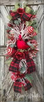 Cardinal Wreath, Cardinal Decor, Christmas Wreath by Ba Bam Wreaths