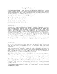 Sample Obituaries Free Download