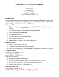 Sample Entry Level Resume Entry Level Business Analyst Resume sraddme 17