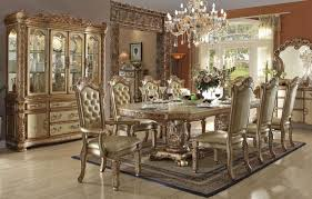 dining room furniture styles. Dining Room Vendome Gold Patina Traditional Style Formal Table Se Classic Furniture Styles