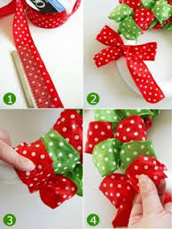 Ribbon Wreath Tutorial can use any ribbon for different seasons