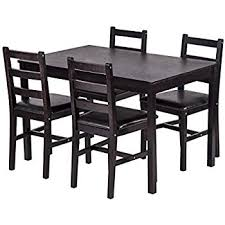 bestmage dining table set kitchen dining table set wood table and chairs set kitchen table and chairs for 4 person
