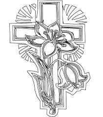 Easter Cross Coloring Pages Coloring Pages Printable Coloring Pages